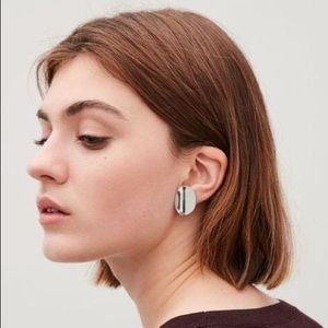 COS Silver Curved Stud Earring